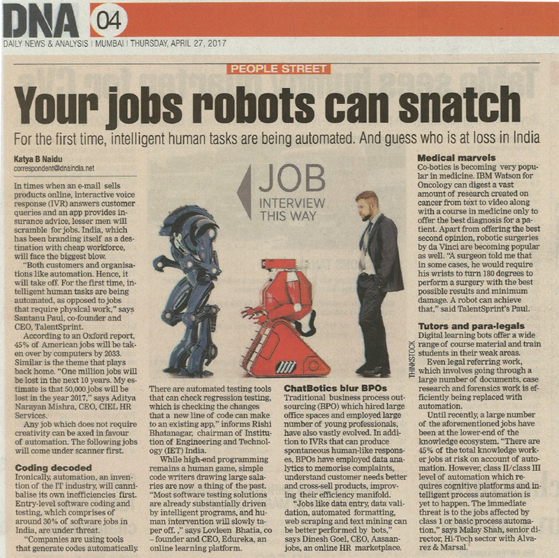 Your jobs robots can snatch