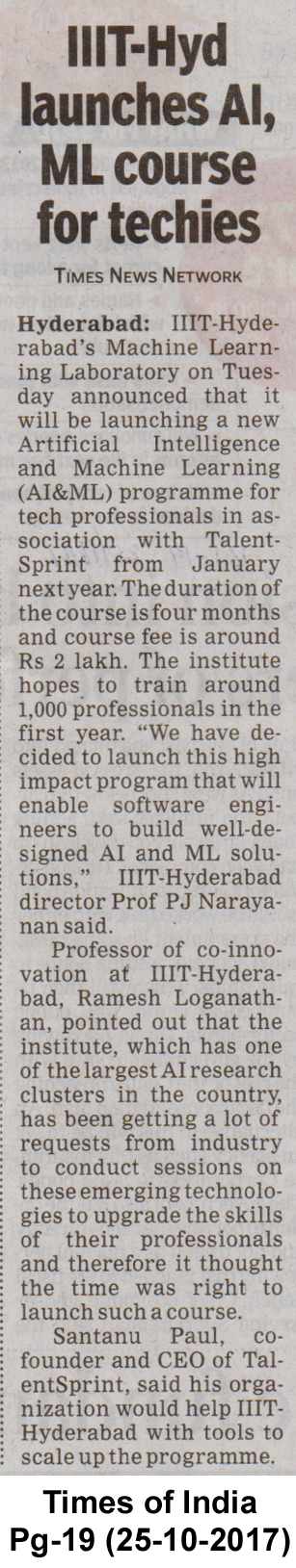 IIIT-Hyderabad launches AI programme