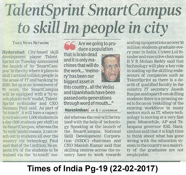 TalentSprint Inauguration of New SmartCampus