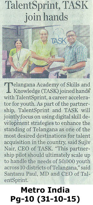 TalentSprint to skill graduates across ten districts of Telangana