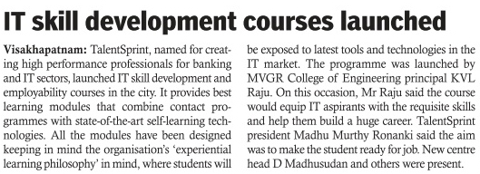 IT skill development courses launched