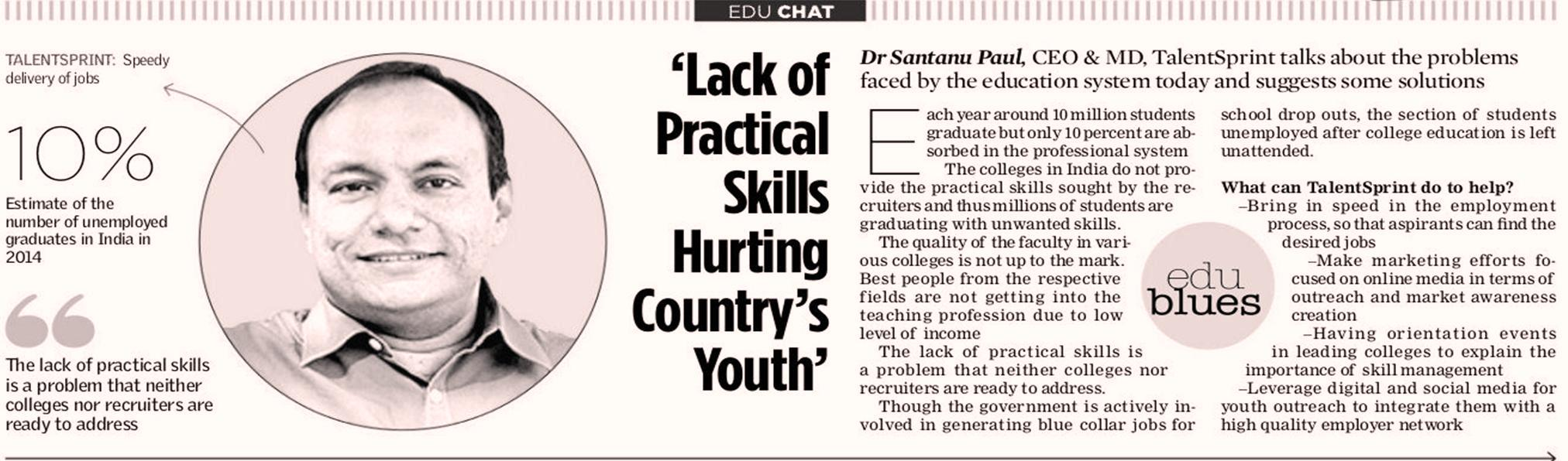 Lack of Practiacl Skills Hurting Country's Youth