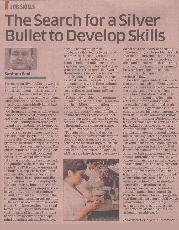Article in Economic Times